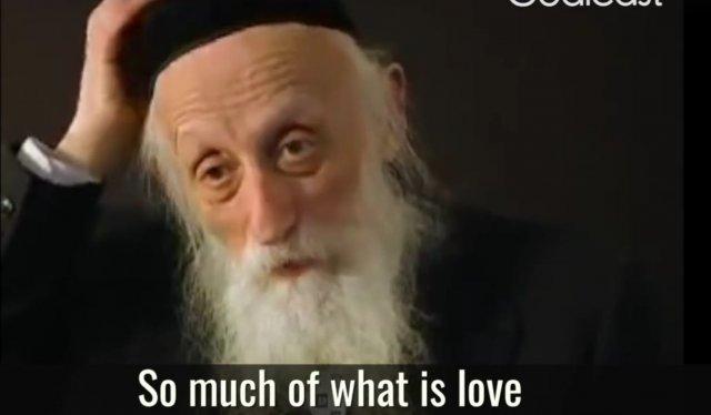 Rabin na temat miłości.
