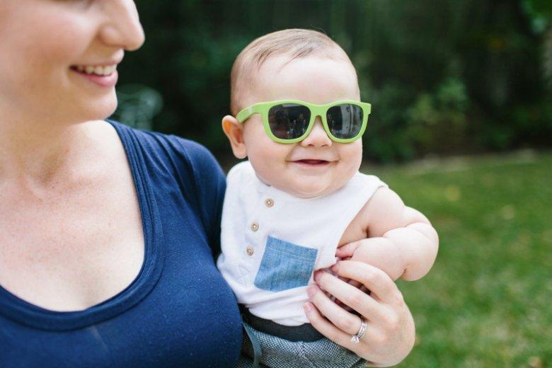 Okularki przeciwsłoneczne marki Babiators dostępne są w dwóch rozmiarach: dla dzieci w wieku 0-3 lata i 3-7+