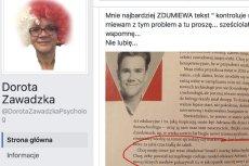 Na swoim profilu Zawadzka krótko i dosadnie skomentowała plany Grzesiaka.