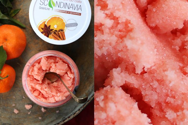 Peeling cukrowy o zapachu pomarańczy z cynamonem Scandinavia Cosmetics to moja nowa kosmetyczna miłość.