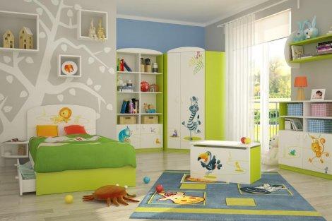 Pokój dziecięcy musi być tak urządzony, żeby dziecko chciało w nim przebywać. Grafika trafiająca w jego gust wydaje się być dobrym rozwiązaniem