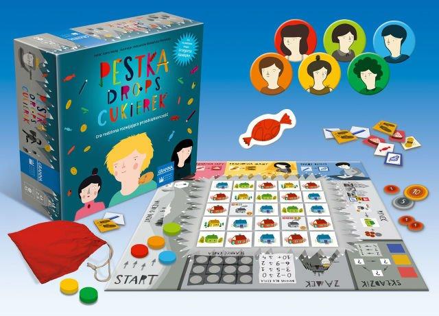 """""""Pestka, drops, cukierek to gra dla dzieci w wieku od 7 do 10 lat."""