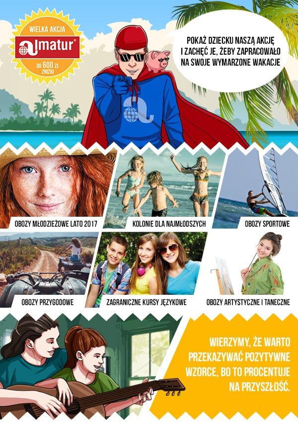 """Dzięki ogólnopolskiej akcji """"Zapracuj na wakacje"""" dzieci i młodzież mogą zarobić na wakacyjny wyjazd, prezentując swoje talenty w domu, sporcie czy szkole"""