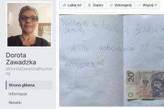 Prezent w postaci krótkiego liścika z dołączonym banknotem nie podoba się wielu internautom