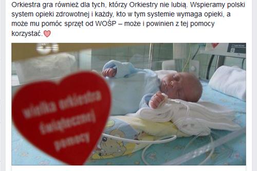 Fot. Screen Facebook WOŚP